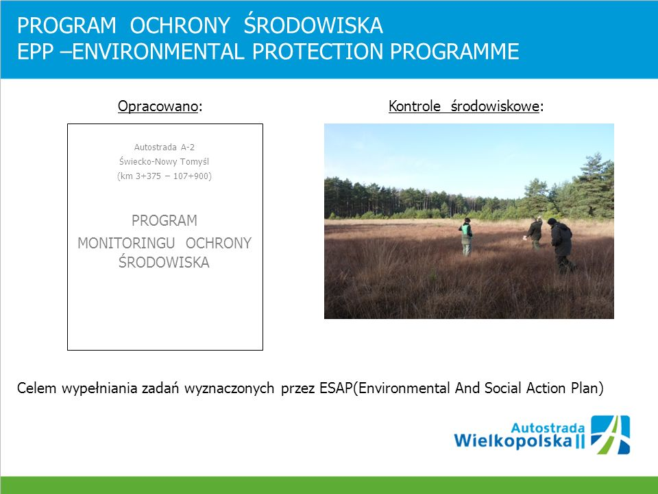 PROGRAM OCHRONY ŚRODOWISKA EPP –ENVIRONMENTAL PROTECTION PROGRAMME