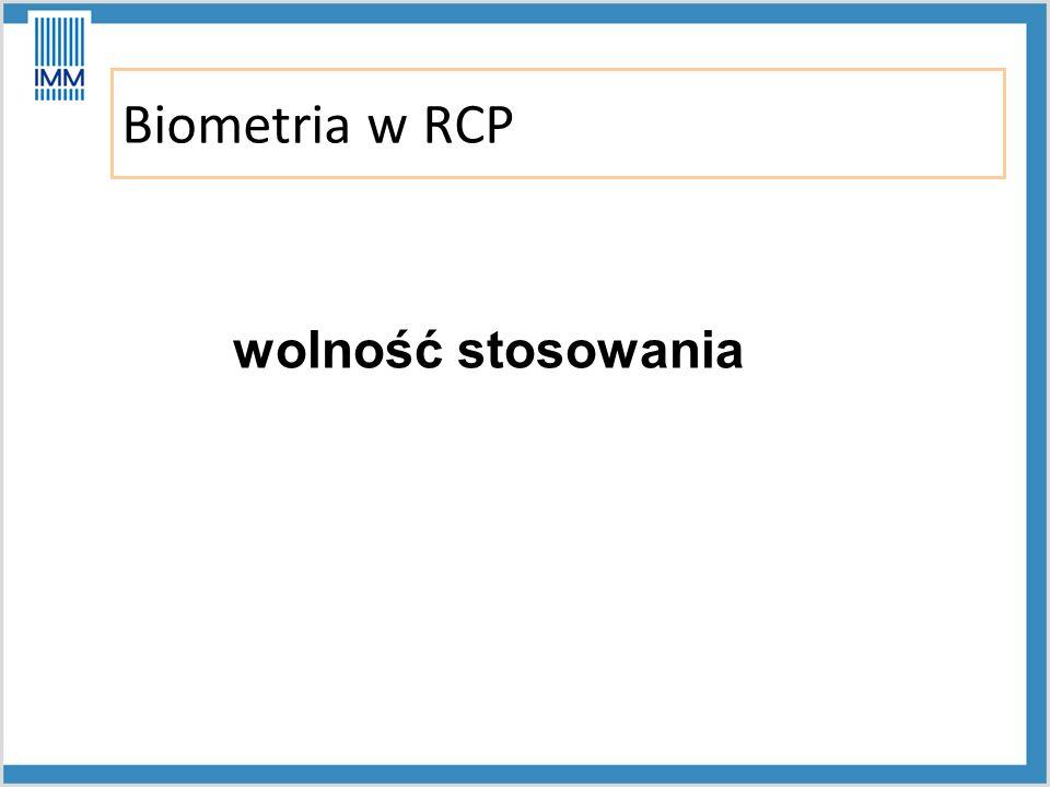 Biometria w RCP wolność stosowania