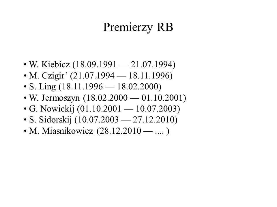 Premierzy RB W. Kiebicz (18.09.1991 — 21.07.1994)