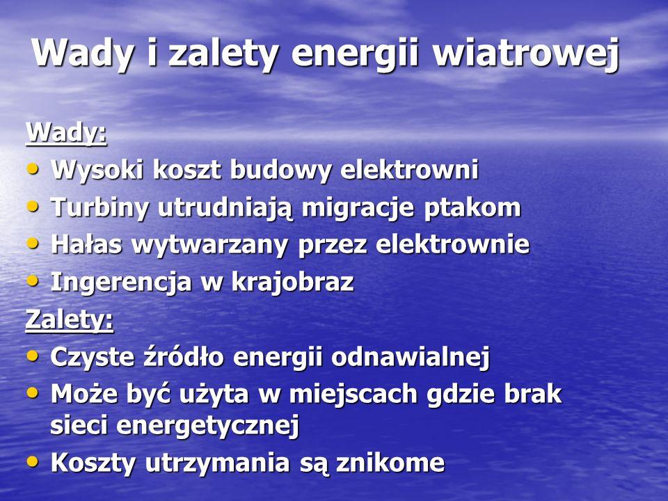Wady i zalety energii wiatrowej
