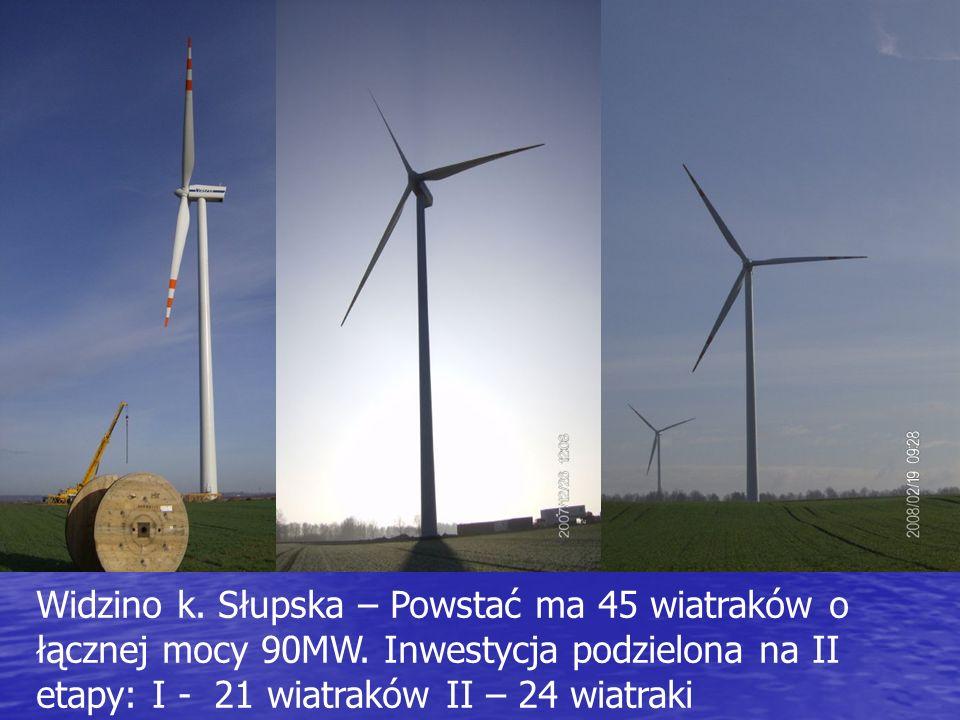 Widzino k. Słupska – Powstać ma 45 wiatraków o łącznej mocy 90MW