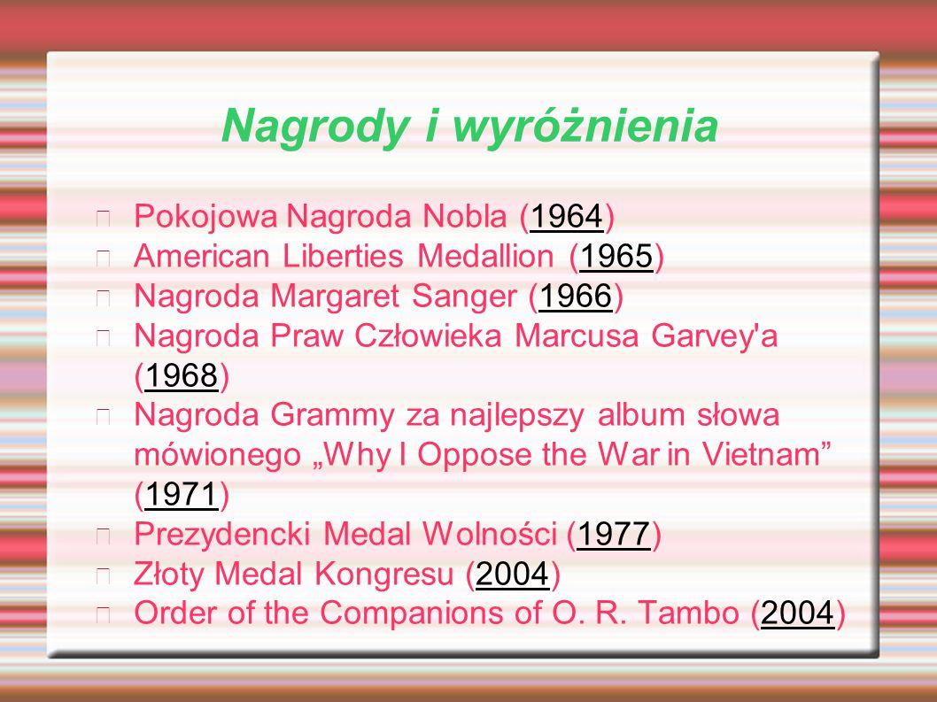 Nagrody i wyróżnienia Pokojowa Nagroda Nobla (1964)
