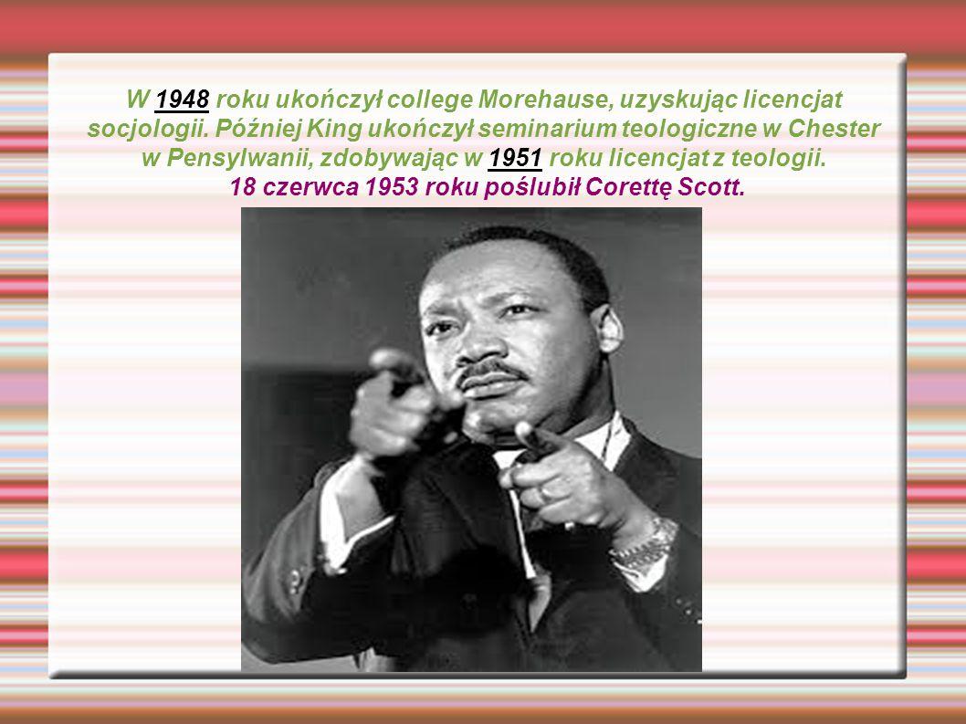 W 1948 roku ukończył college Morehause, uzyskując licencjat socjologii