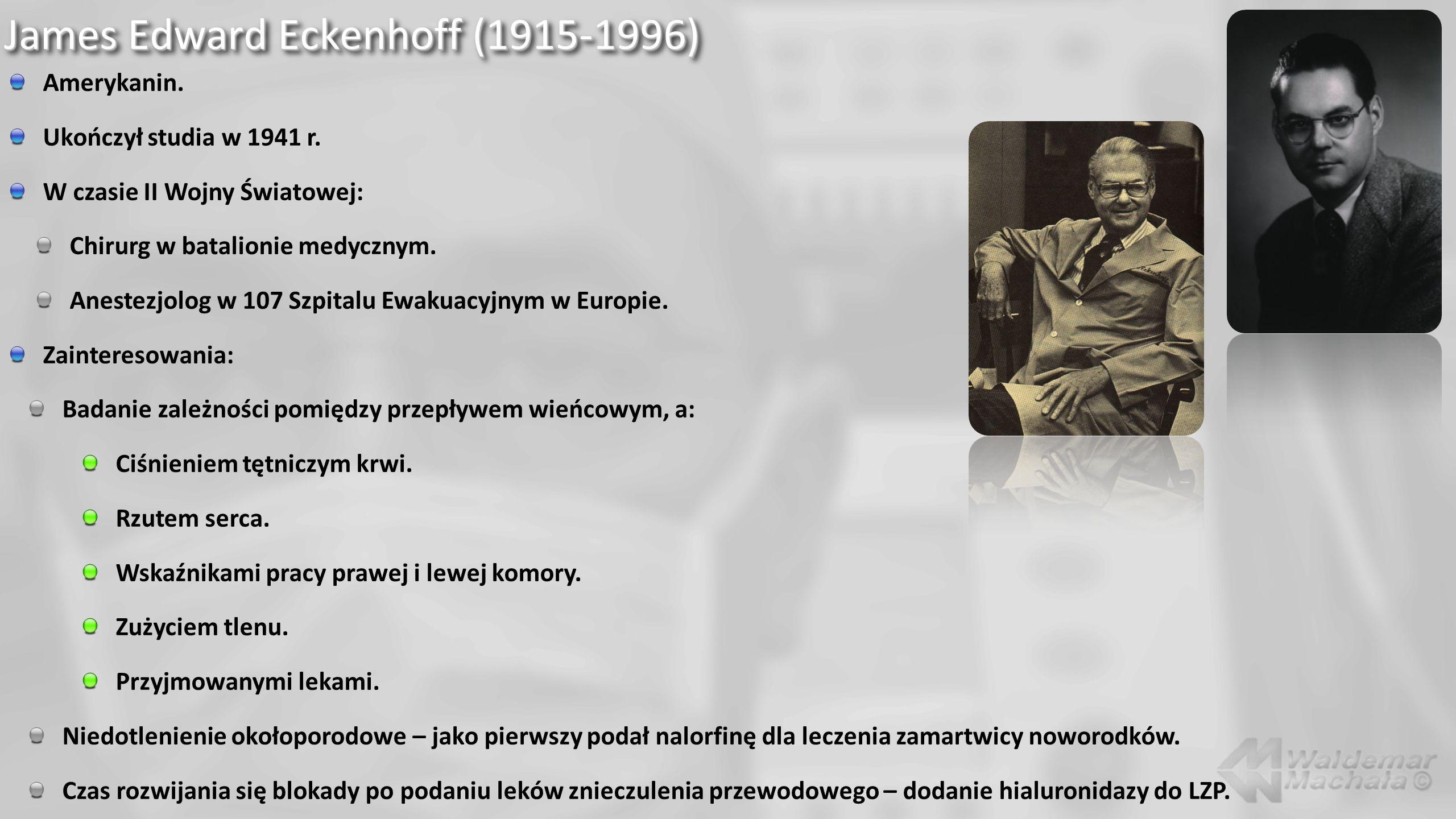 James Edward Eckenhoff (1915-1996)