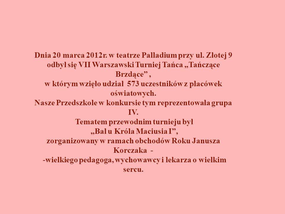 Dnia 20 marca 2012r. w teatrze Palladium przy ul. Złotej 9