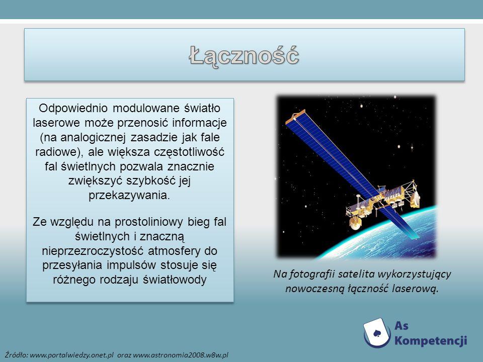 Na fotografii satelita wykorzystujący nowoczesną łączność laserową.