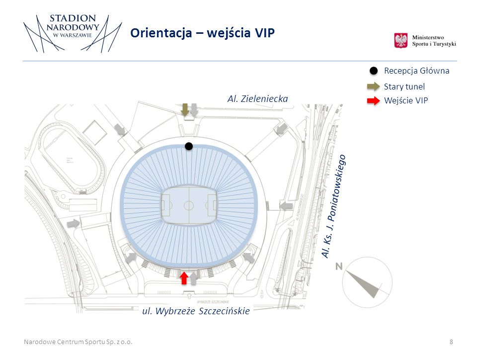 Orientacja – wejścia VIP