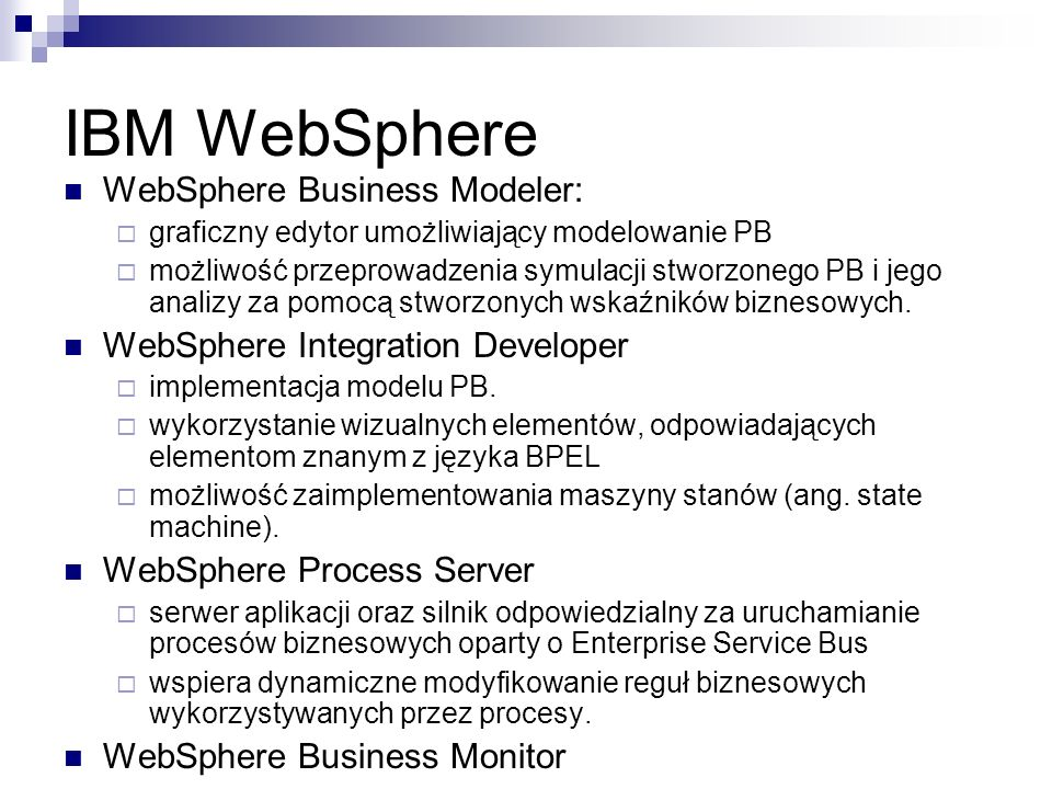 IBM WebSphere WebSphere Business Modeler: