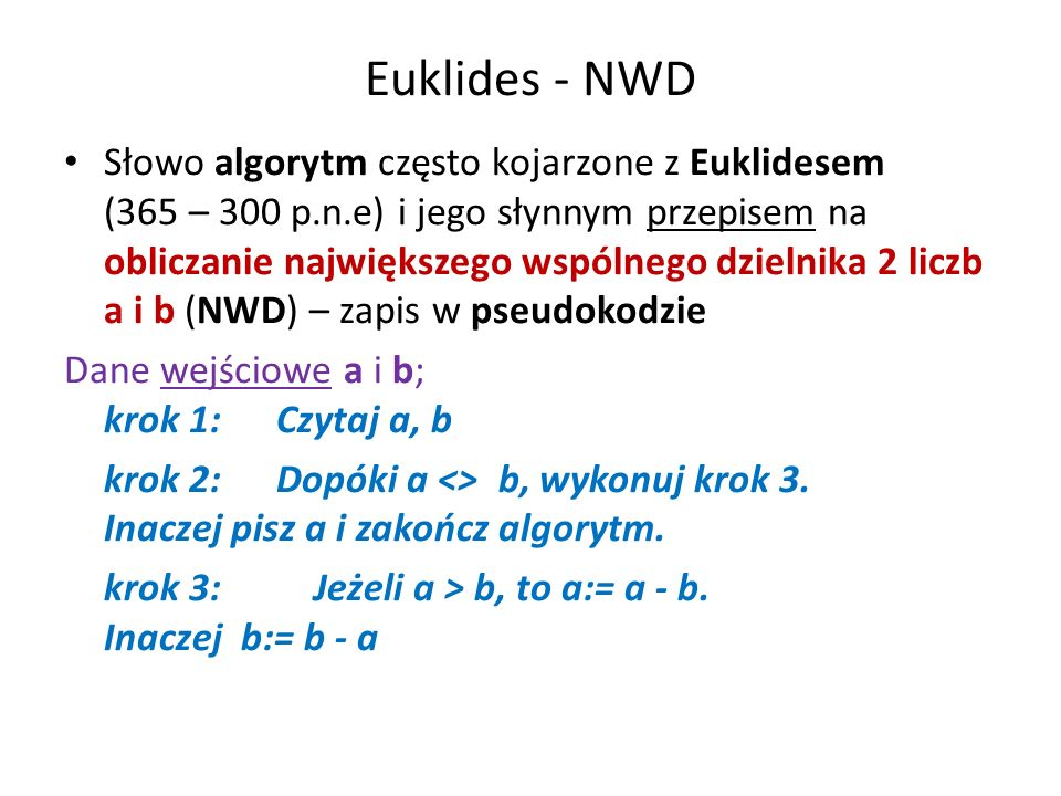 Euklides - NWD