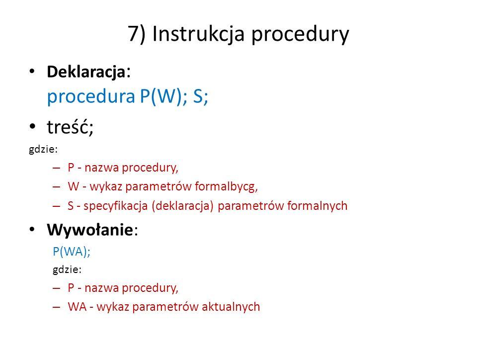 7) Instrukcja procedury