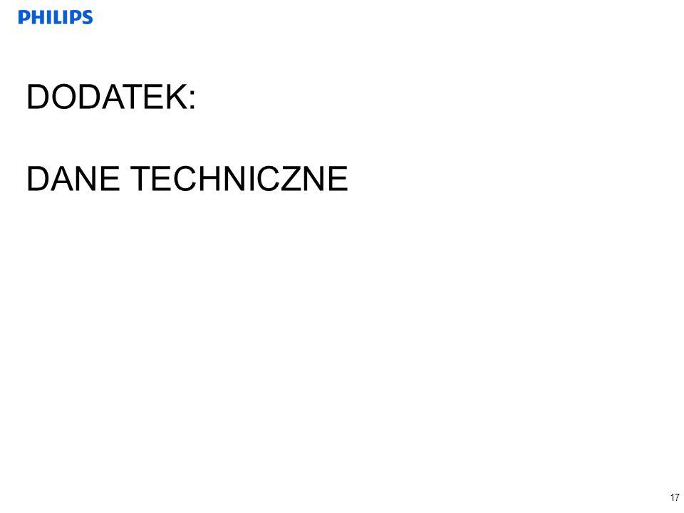 DODATEK: DANE TECHNICZNE