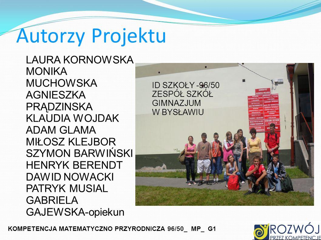 Autorzy Projektu LAURA KORNOWSKA MONIKA MUCHOWSKA AGNIESZKA PRĄDZINSKA