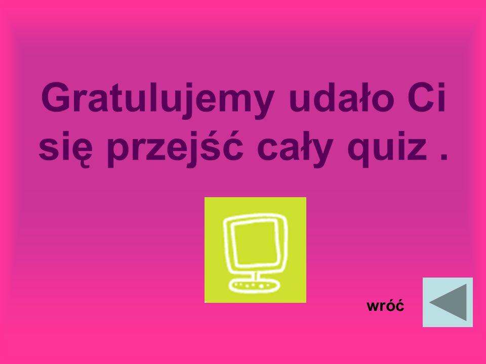 Gratulujemy udało Ci się przejść cały quiz .
