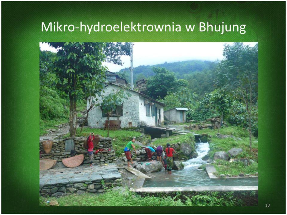 Mikro-hydroelektrownia w Bhujung