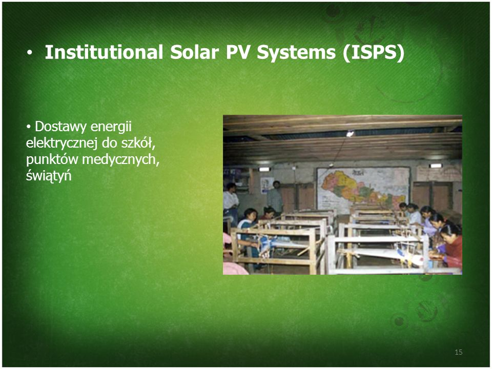 Institutional Solar PV Systems (ISPS)