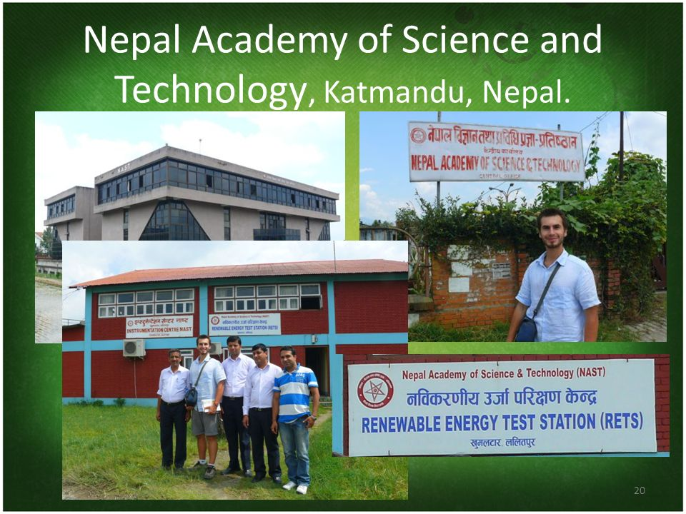 Nepal Academy of Science and Technology, Katmandu, Nepal.