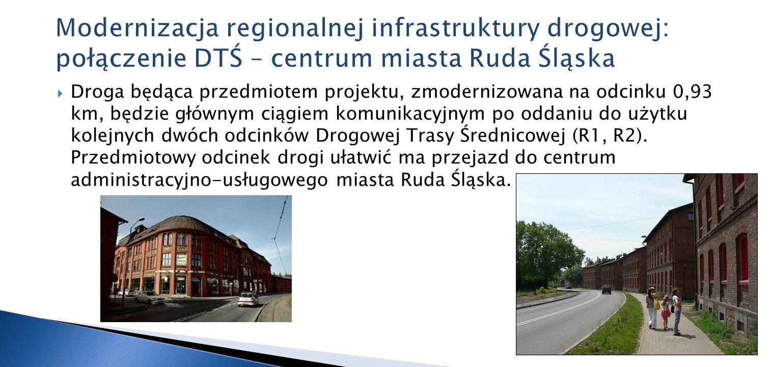 Modernizacja regionalnej infrastruktury drogowej: połączenie DTŚ – centrum miasta Ruda Śląska