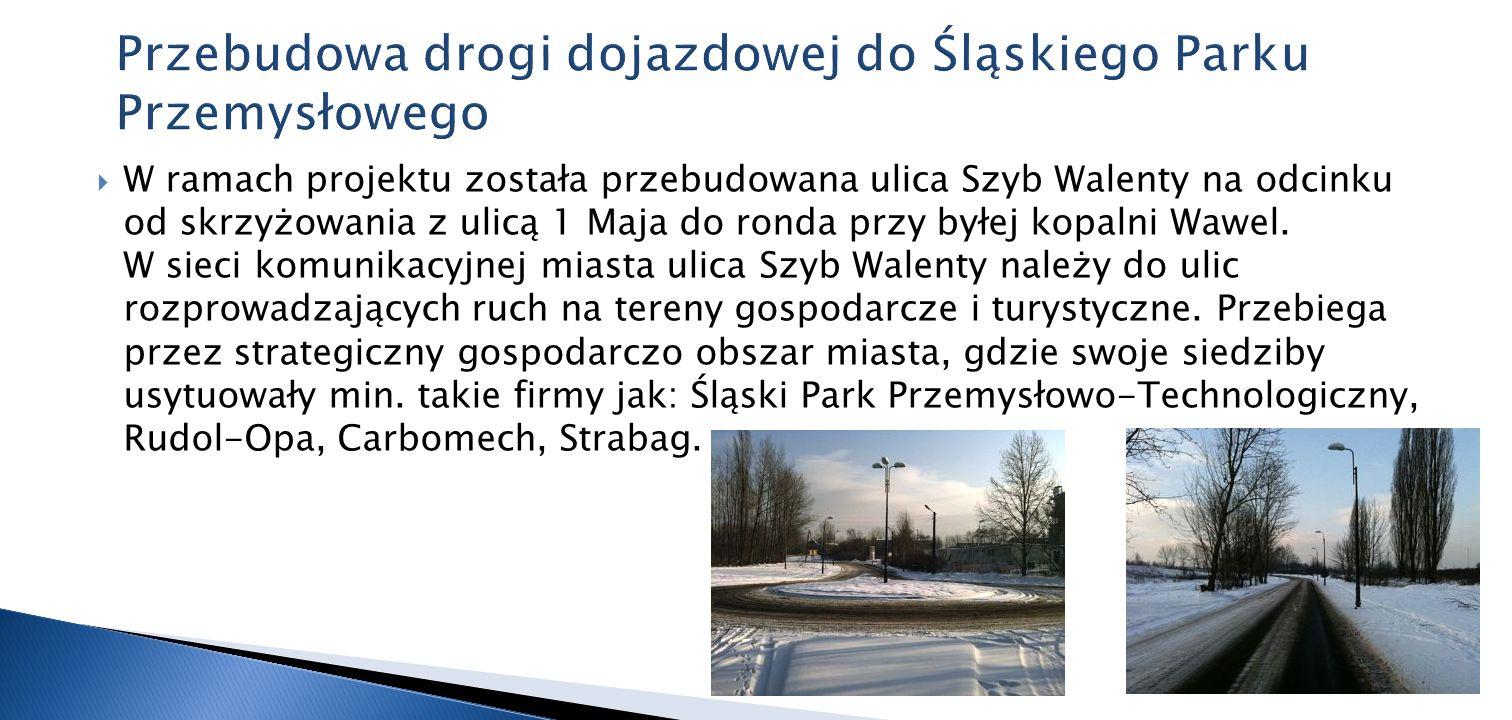 Przebudowa drogi dojazdowej do Śląskiego Parku Przemysłowego