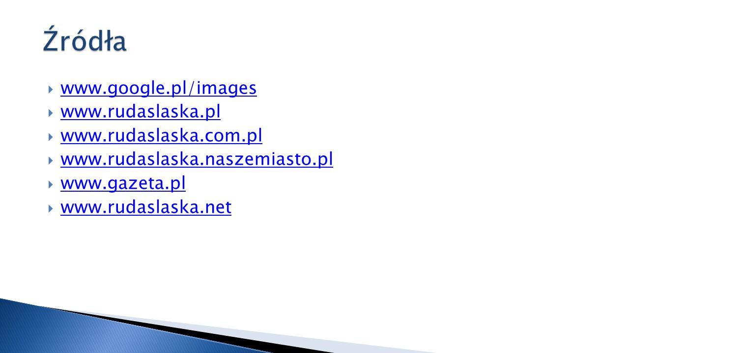 Źródła www.google.pl/images www.rudaslaska.pl www.rudaslaska.com.pl