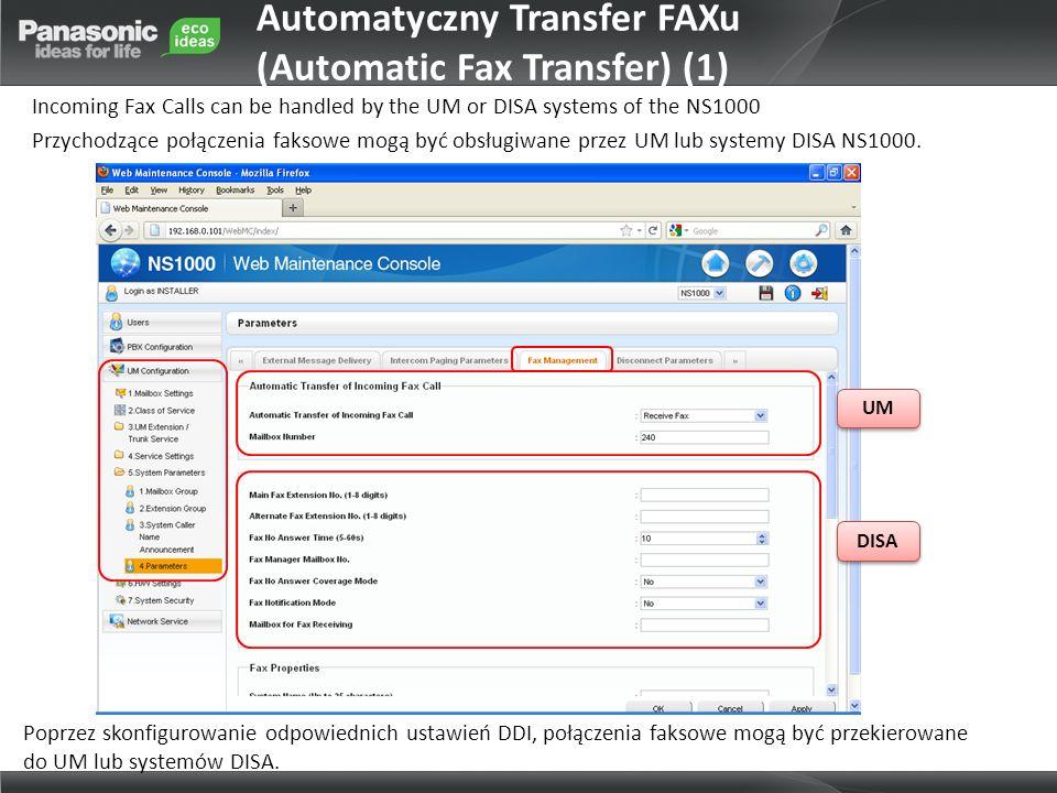 Automatyczny Transfer FAXu (Automatic Fax Transfer) (1)