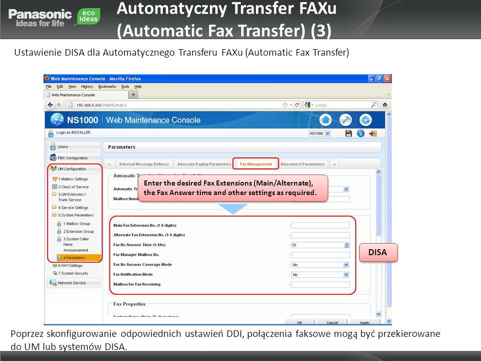 Automatyczny Transfer FAXu (Automatic Fax Transfer) (3)