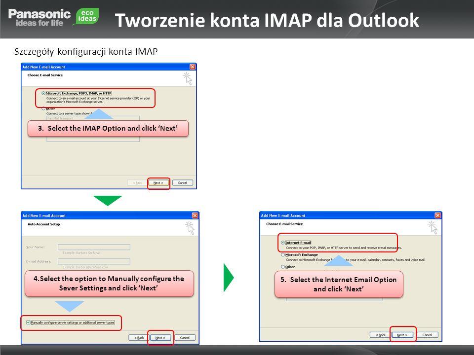 Tworzenie konta IMAP dla Outlook