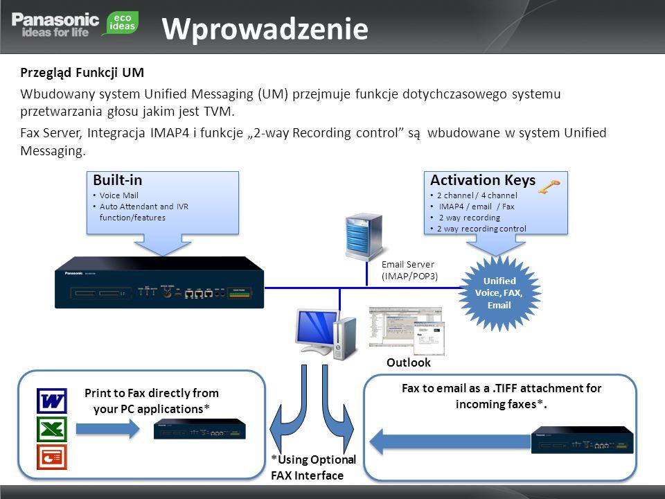Wprowadzenie Built-in Activation Keys