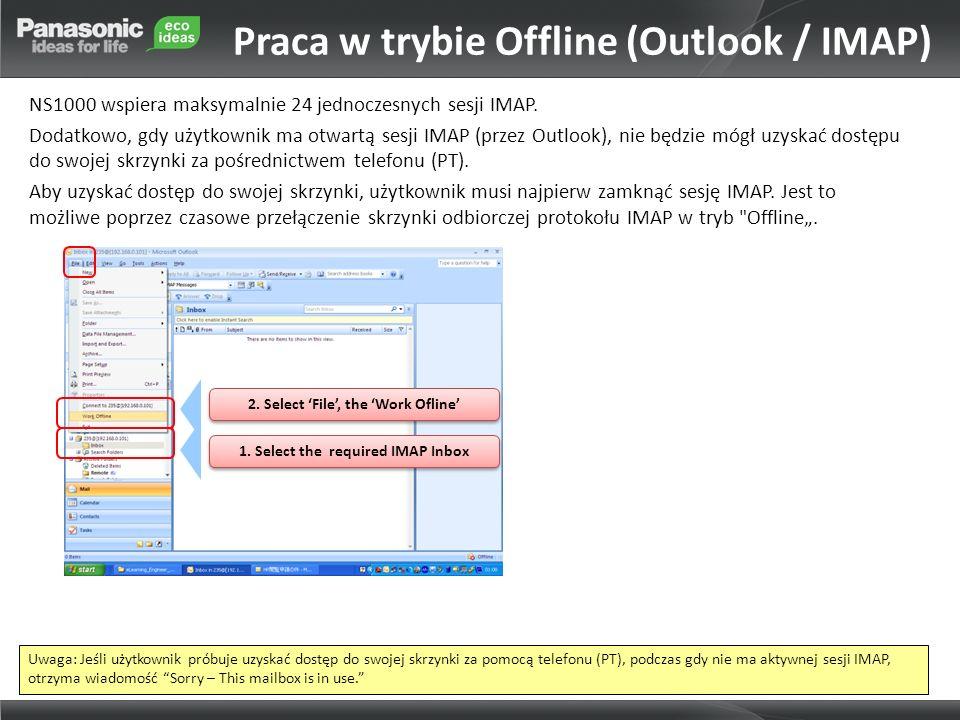 Praca w trybie Offline (Outlook / IMAP)