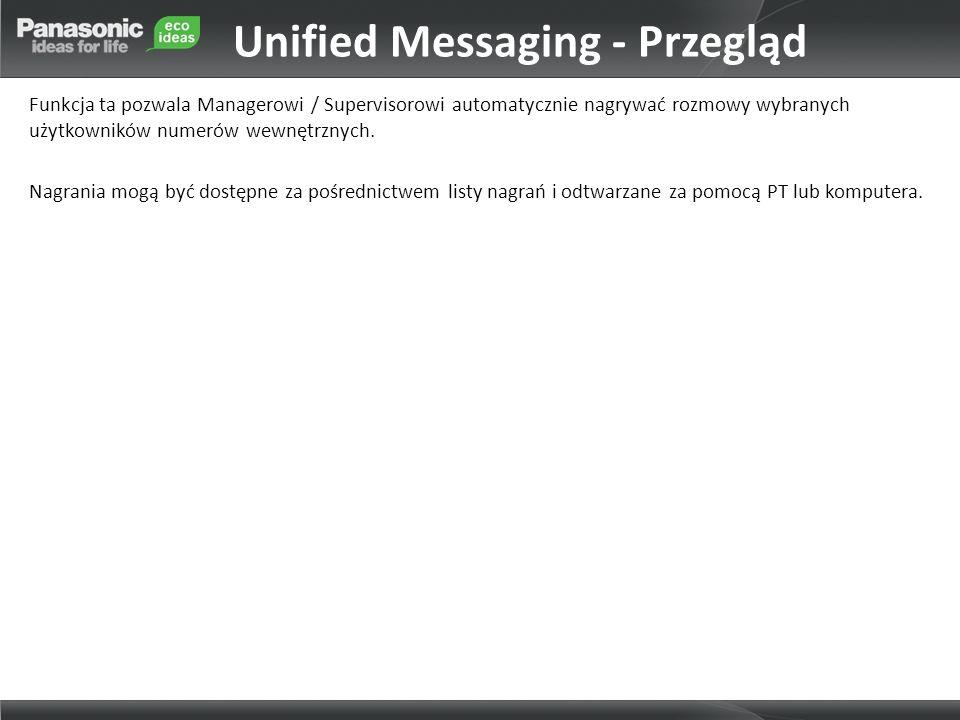 Unified Messaging - Przegląd