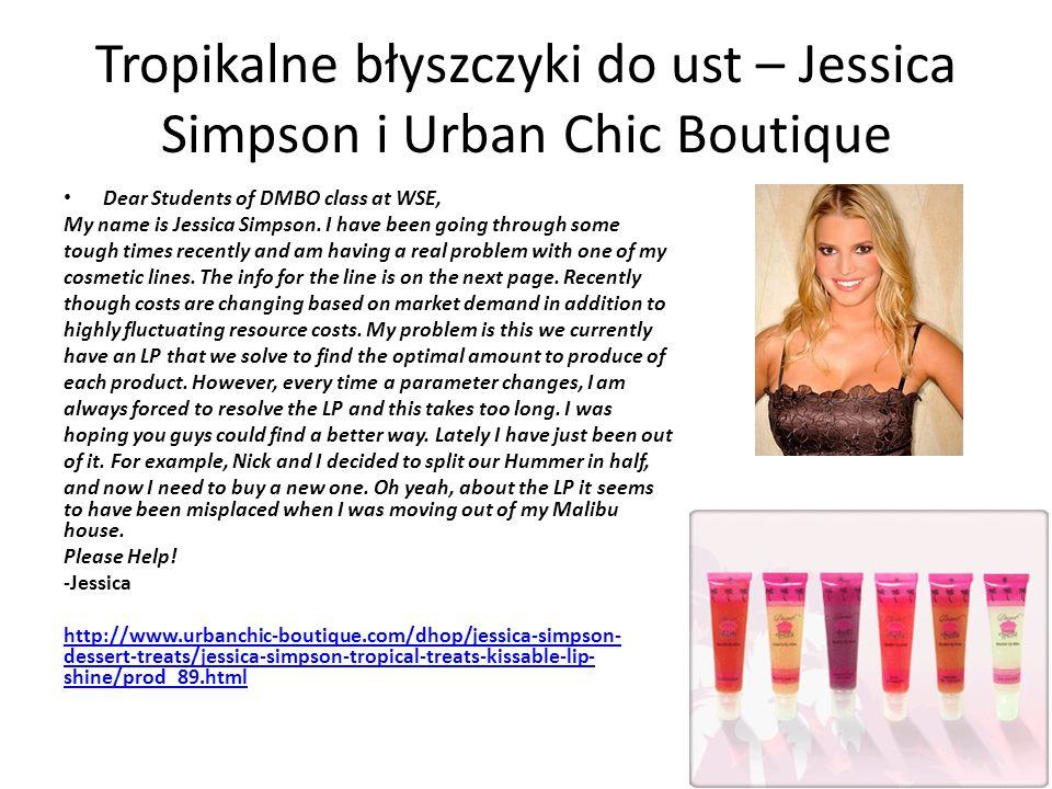 Tropikalne błyszczyki do ust – Jessica Simpson i Urban Chic Boutique