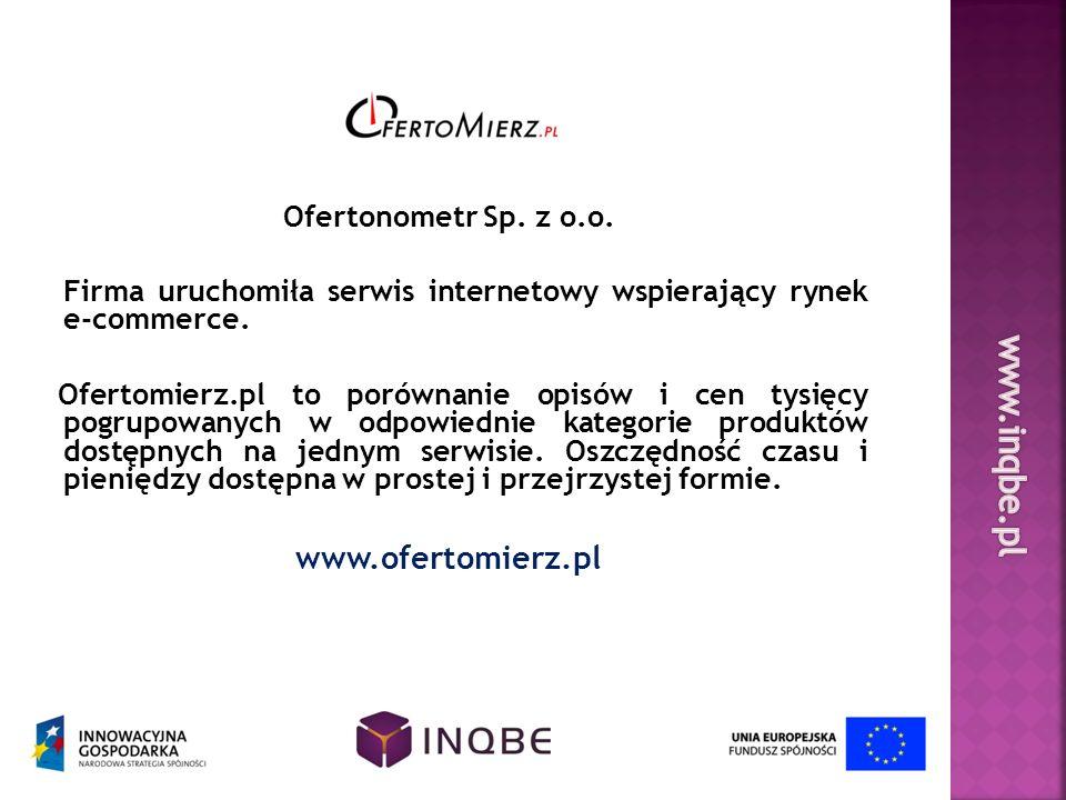 www.inqbe.pl www.ofertomierz.pl Ofertonometr Sp. z o.o.
