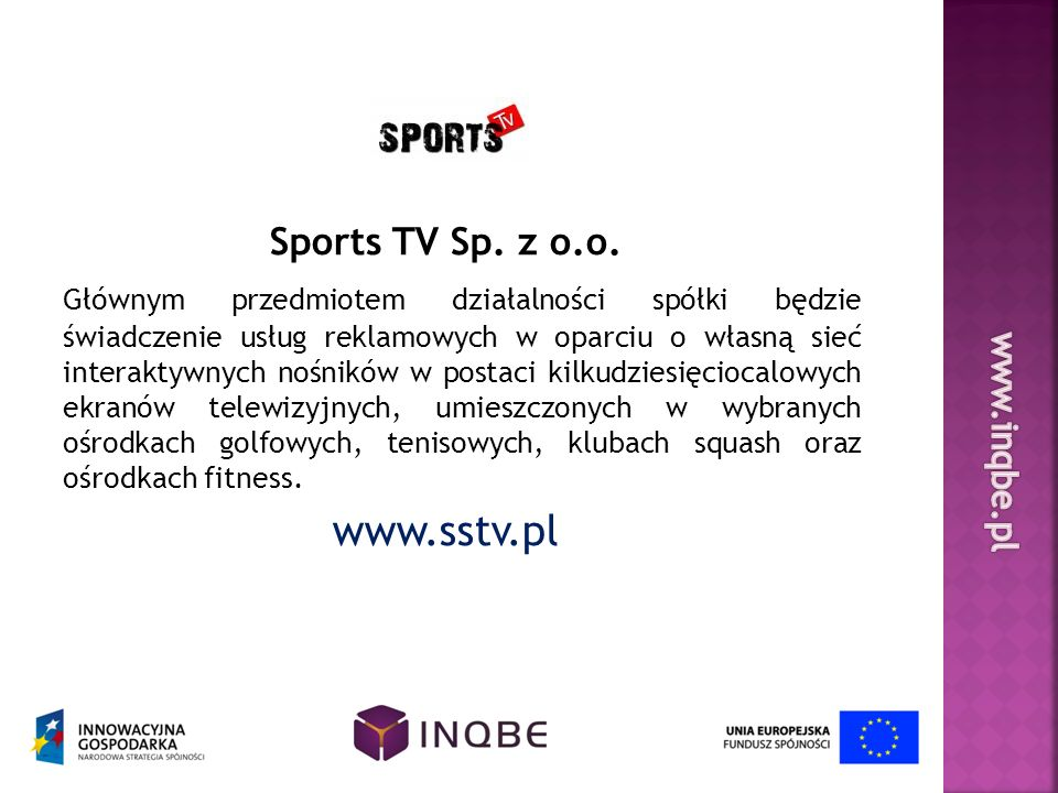 www.sstv.pl Sports TV Sp. z o.o.
