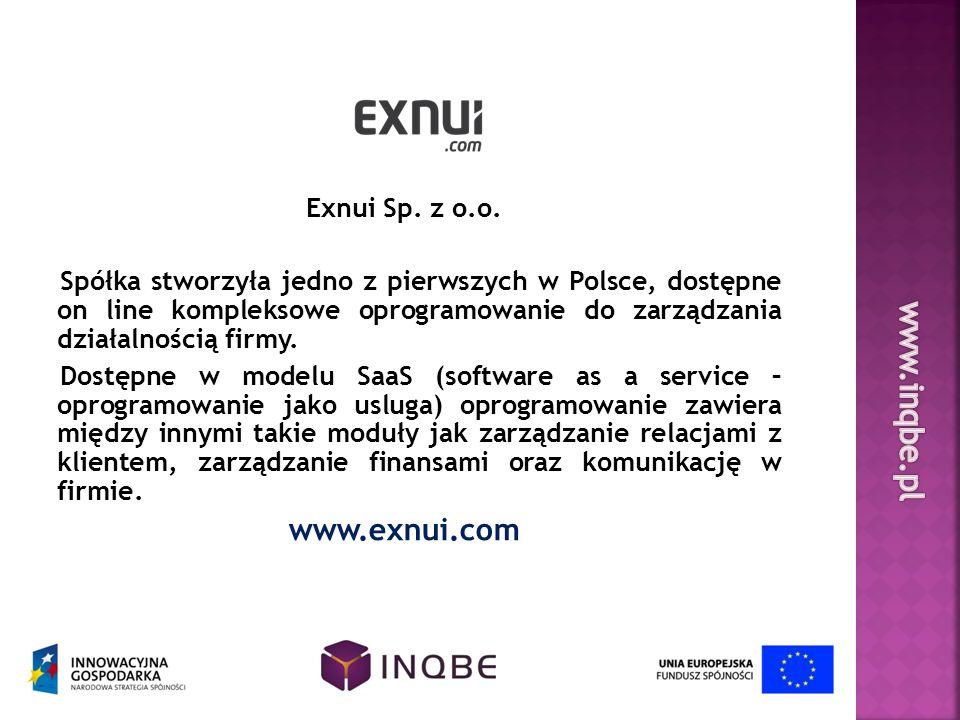 www.inqbe.pl www.exnui.com Exnui Sp. z o.o.