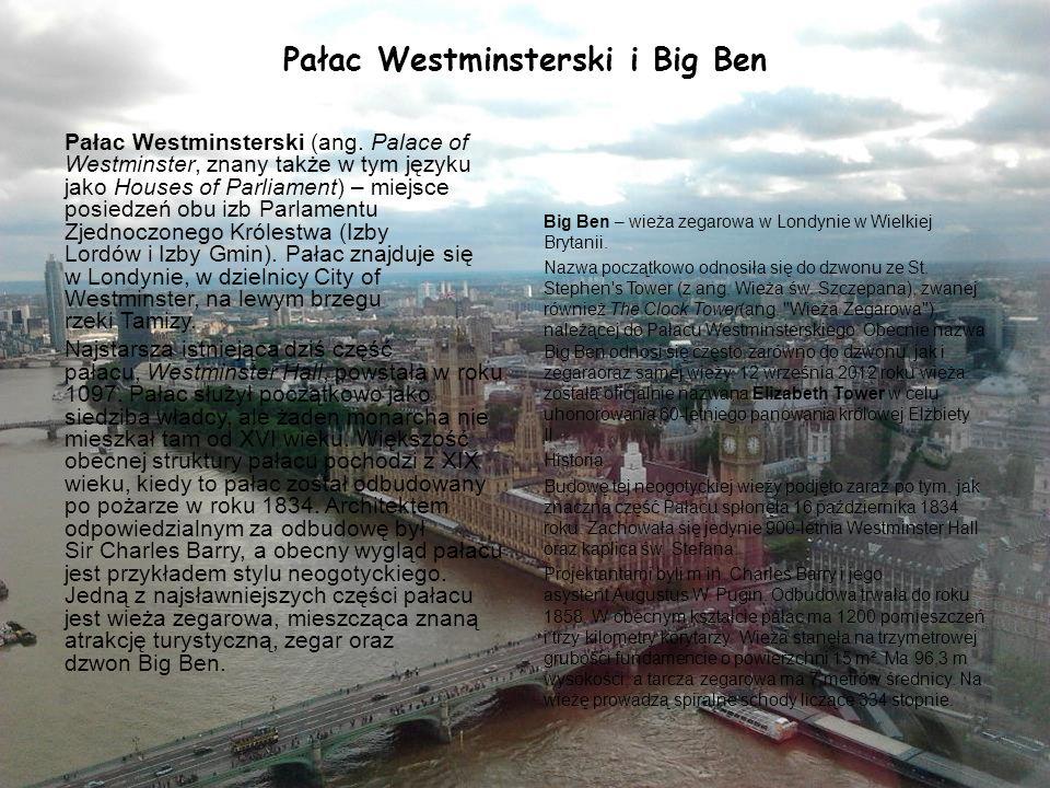 Pałac Westminsterski i Big Ben