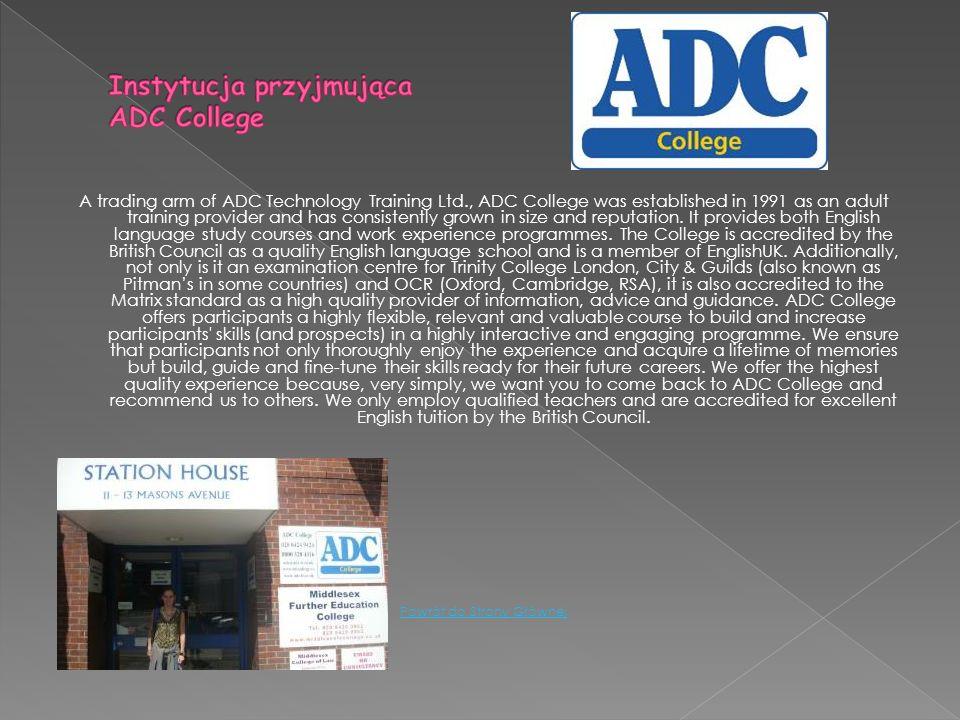 Instytucja przyjmująca ADC College