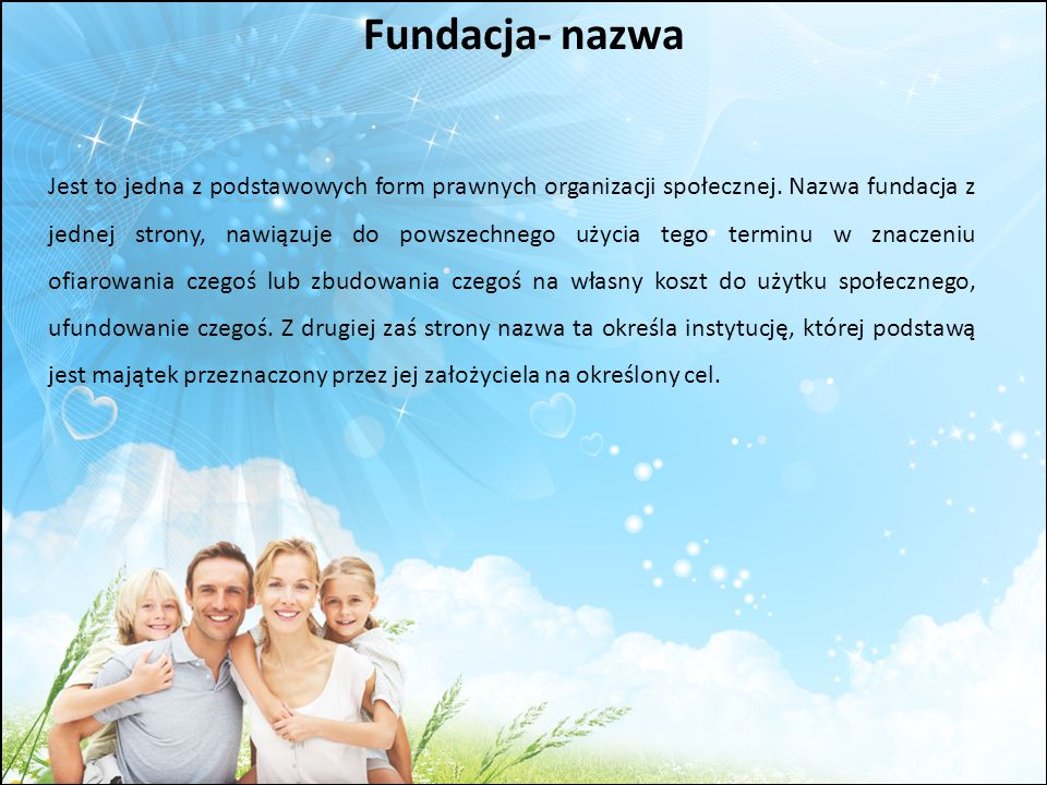 Fundacja- nazwa