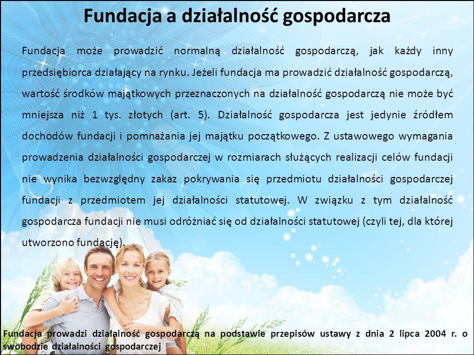 Fundacja a działalność gospodarcza
