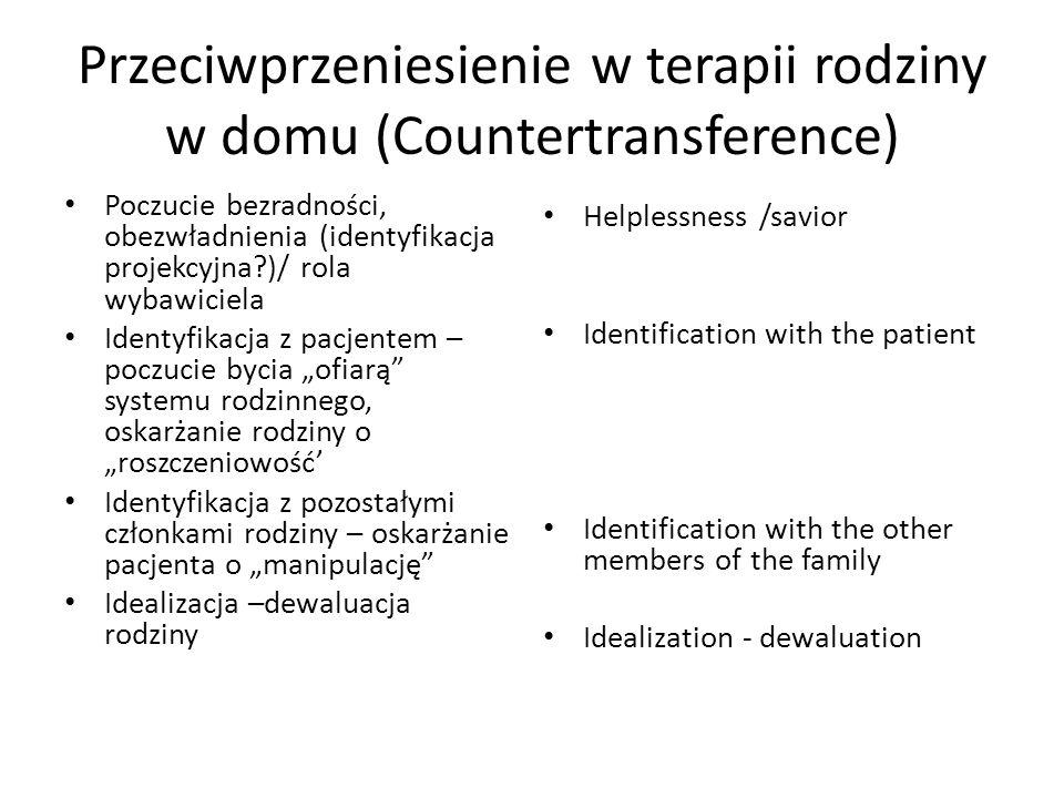 Przeciwprzeniesienie w terapii rodziny w domu (Countertransference)