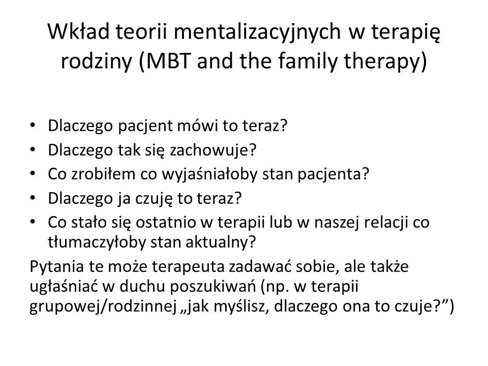 Wkład teorii mentalizacyjnych w terapię rodziny (MBT and the family therapy)