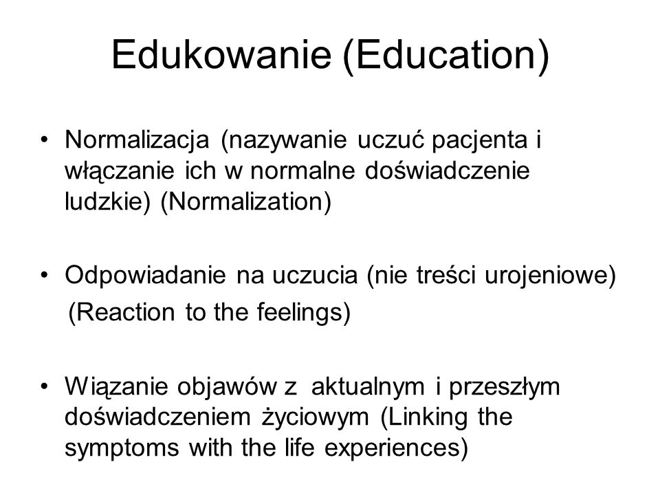 Edukowanie (Education)