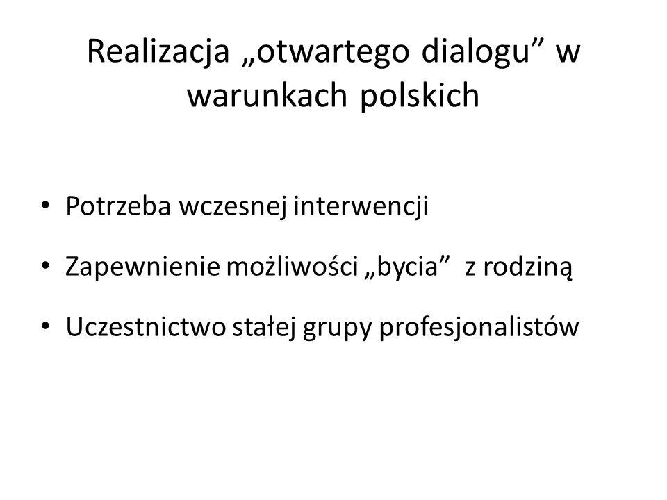 """Realizacja """"otwartego dialogu w warunkach polskich"""