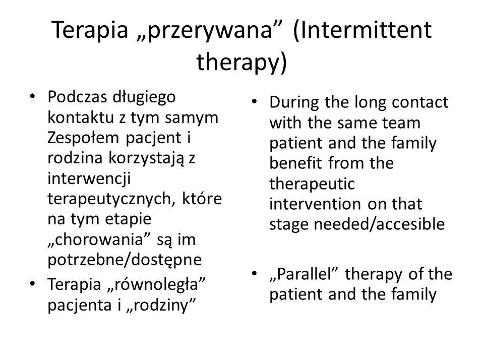 """Terapia """"przerywana (Intermittent therapy)"""