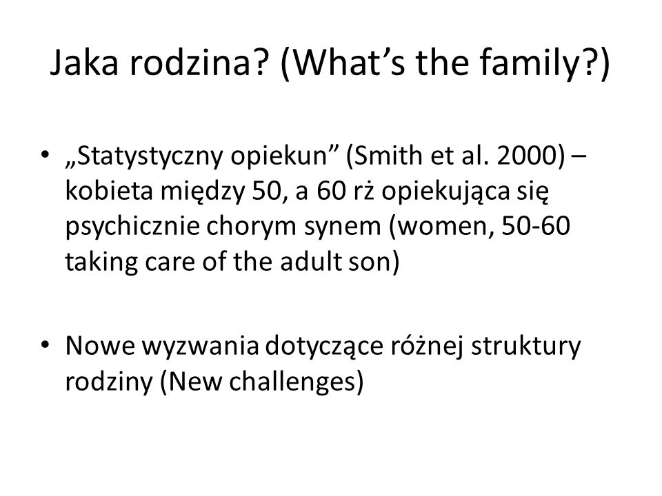 Jaka rodzina (What's the family )