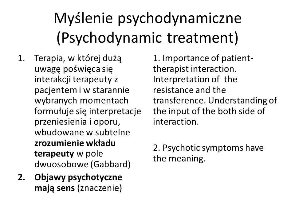 Myślenie psychodynamiczne (Psychodynamic treatment)