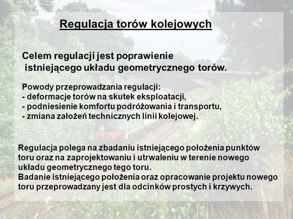 Regulacja torów kolejowych