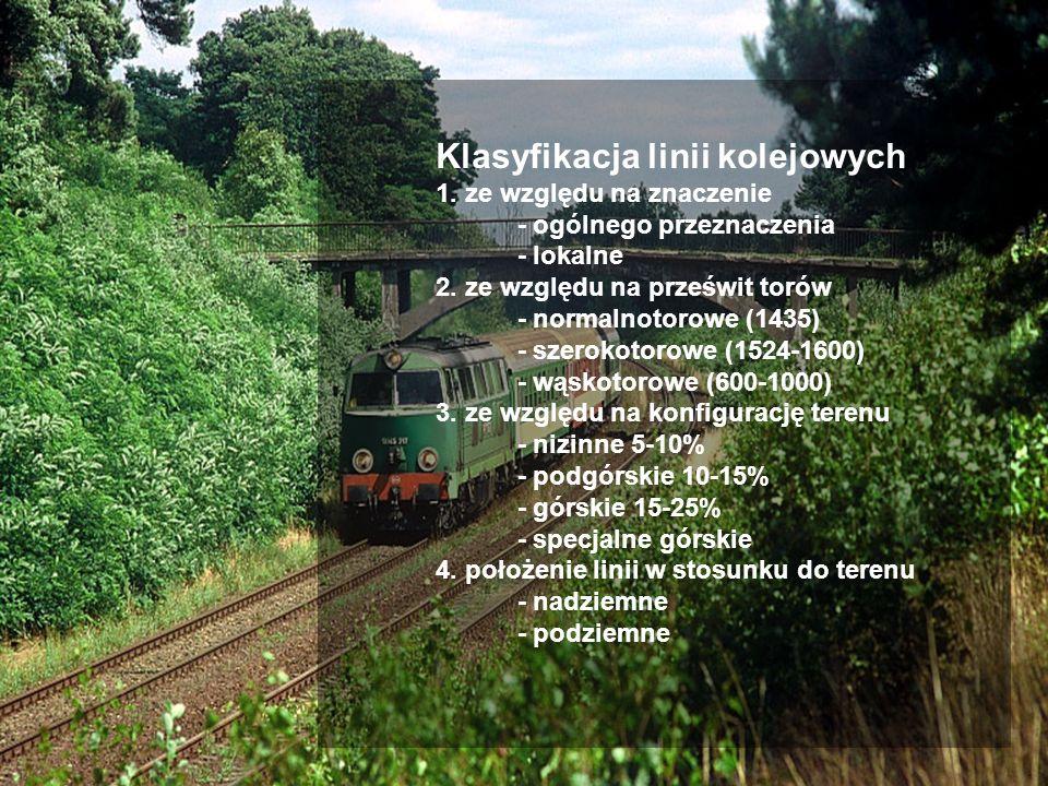 Klasyfikacja linii kolejowych