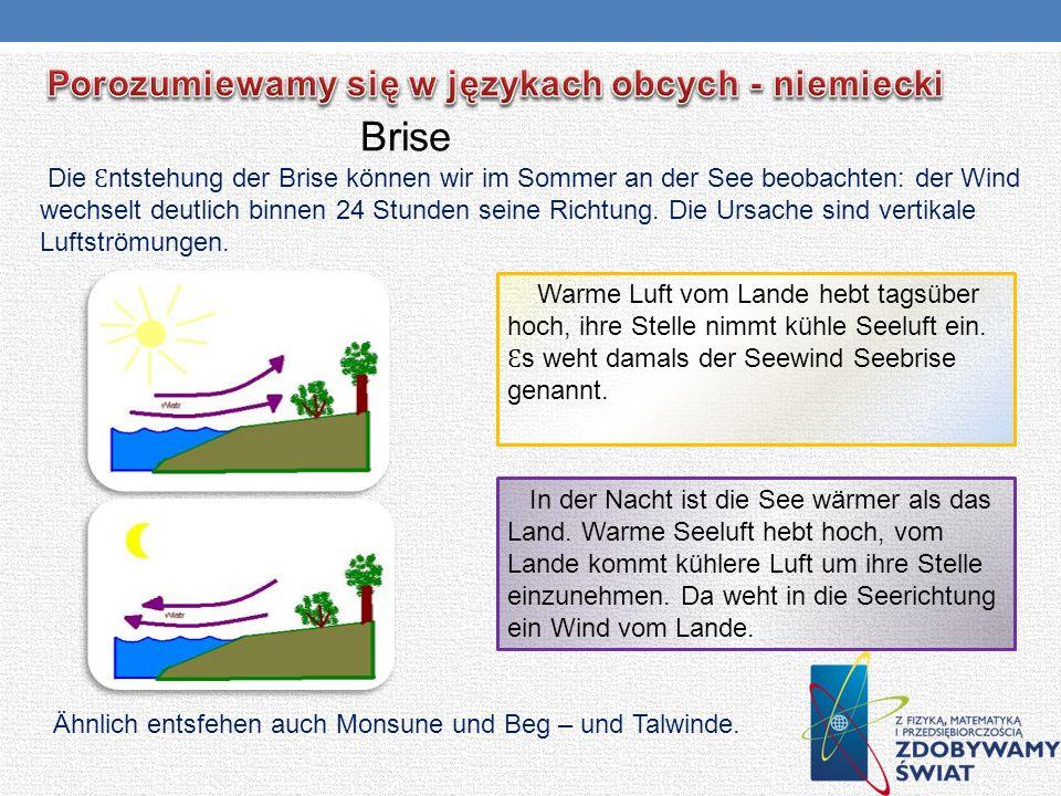 Brise Porozumiewamy się w językach obcych - niemiecki