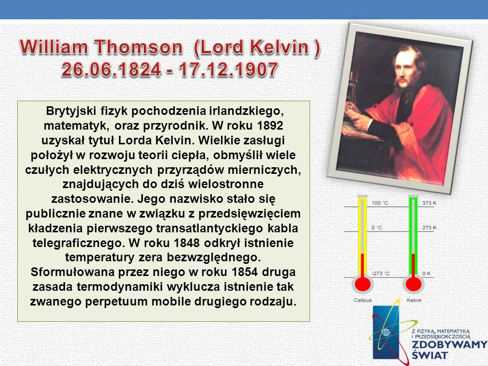 William Thomson (Lord Kelvin ) 26.06.1824 - 17.12.1907