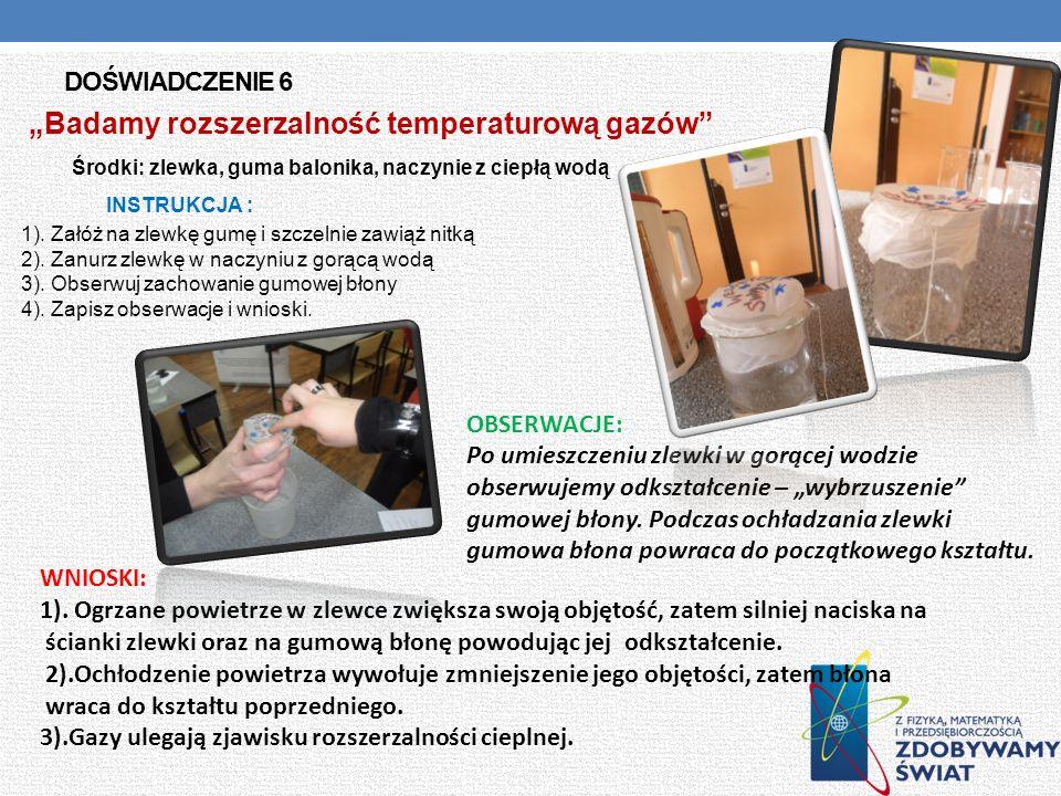"""""""Badamy rozszerzalność temperaturową gazów"""