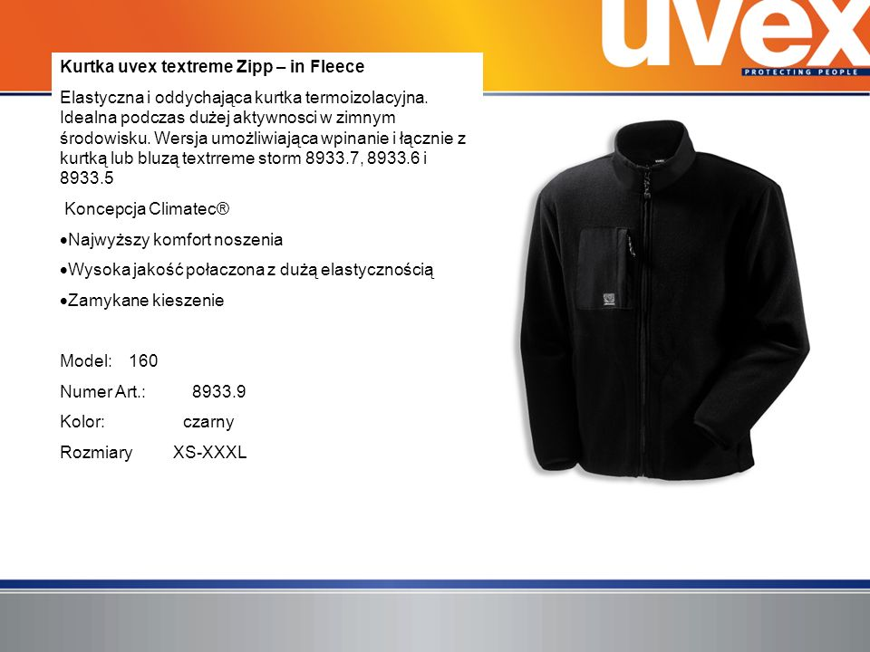 Kurtka uvex textreme Zipp – in Fleece